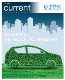 "Cover E-T-A Customer Magazine ""Current"""